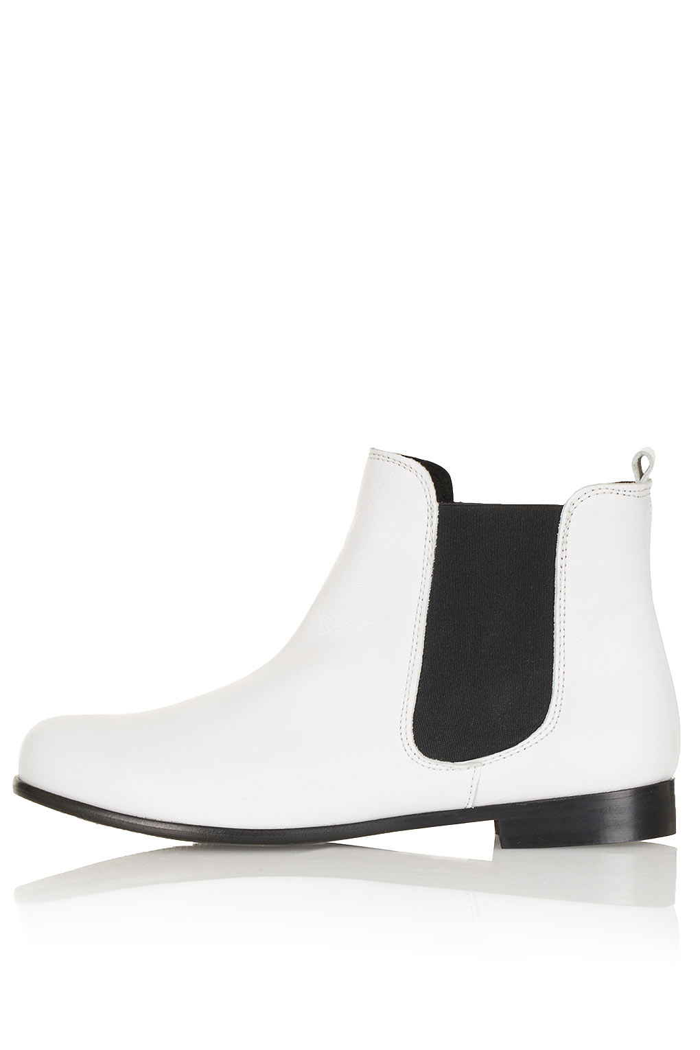 Lyst Topshop Abe2 Ultimate Chelsea Boots In White