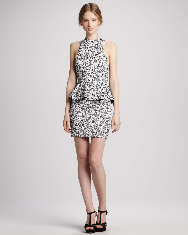 Peplum Halter Dresses