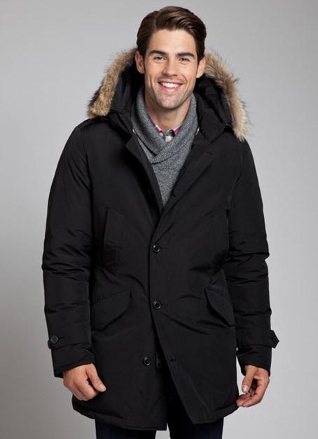 lyst woolrich polar parka in black for men. Black Bedroom Furniture Sets. Home Design Ideas