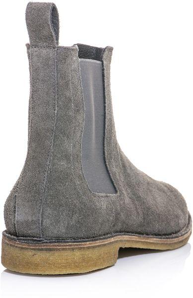 Popular Bottega Veneta Suede Chelsea Boots In Gray For Men  Lyst