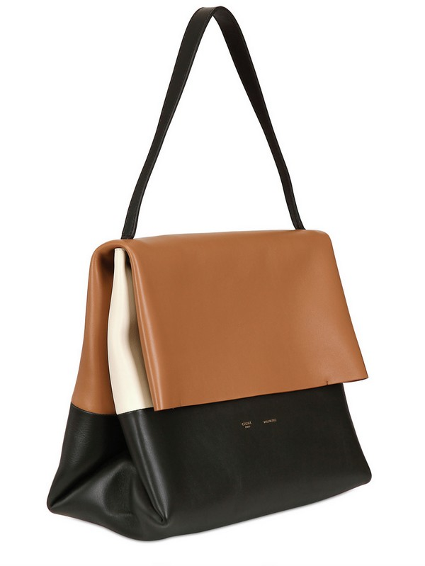 C¨¦line All Soft Mellow Leather Shoulder Bag in Brown (tan) | Lyst
