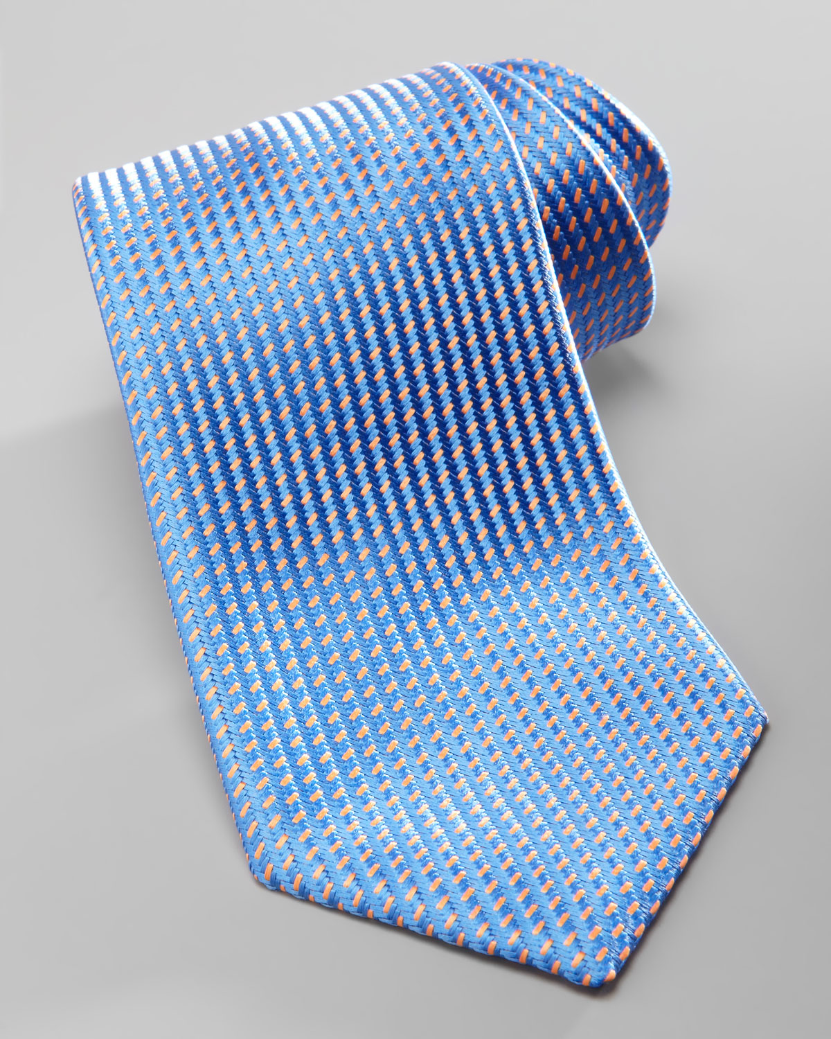 charvet solid dress shirt neat silk tie in blue for