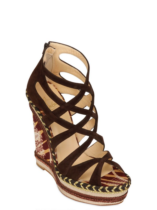 christian louboutin suede cage sandals Brown | The Little Arts Academy