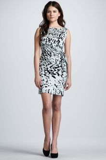 Diane Von Furstenberg Paint Splash Printed Dress - Lyst