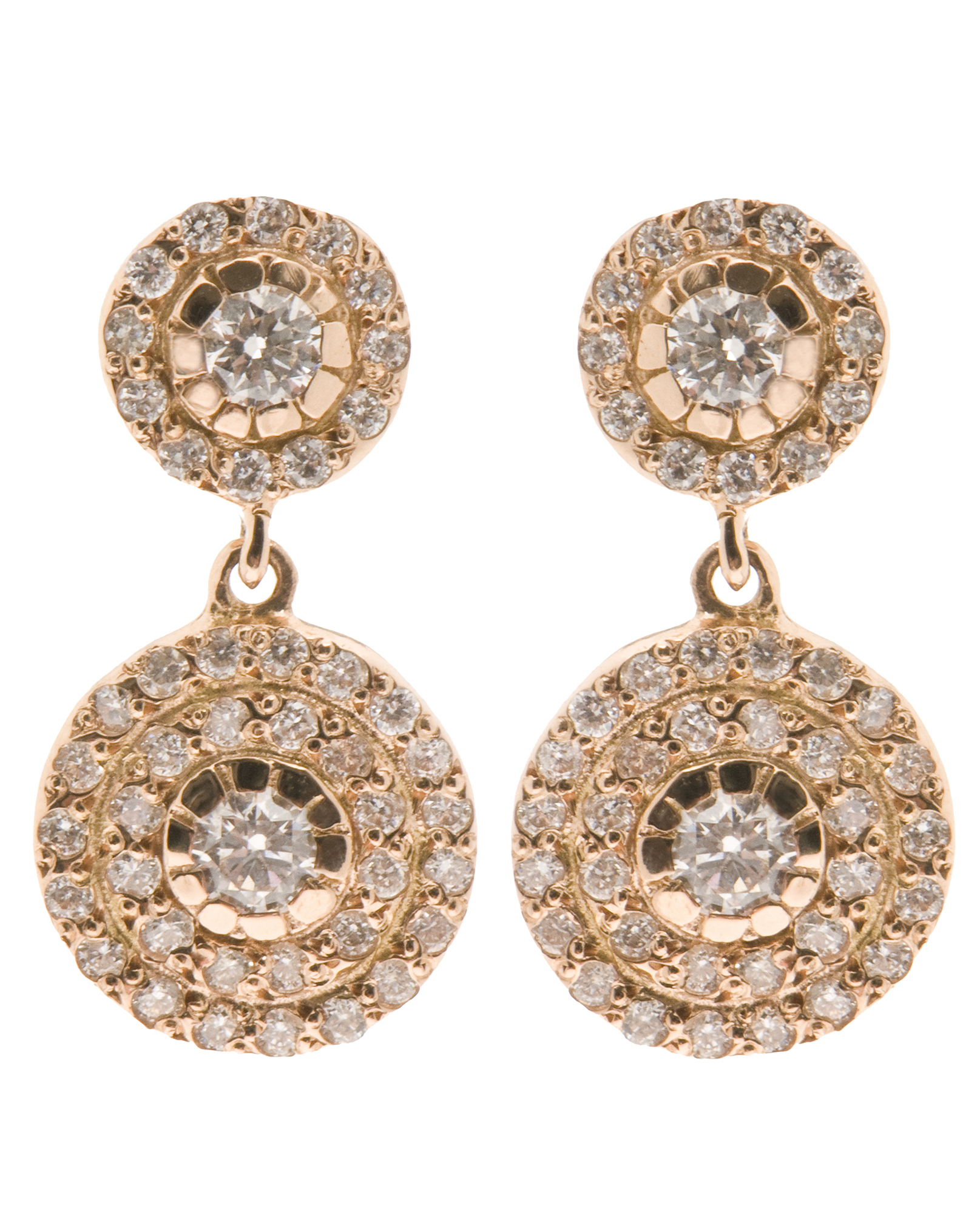 Ileana Makri Double Solitaire Earring in Metallics wk8SNy