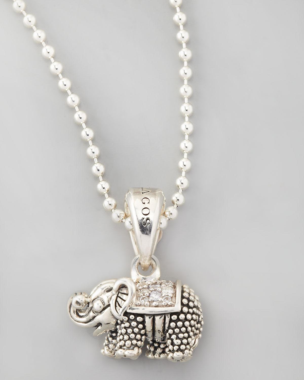 lagos wonders elephant pendant necklace in