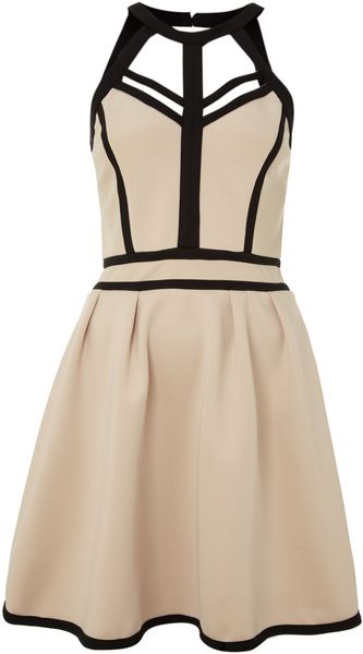 Little Mistress Fit and Flare Harness Dress - Lyst