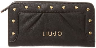 Liu Jo New Good Luck Studded Ziparound Purse - Lyst