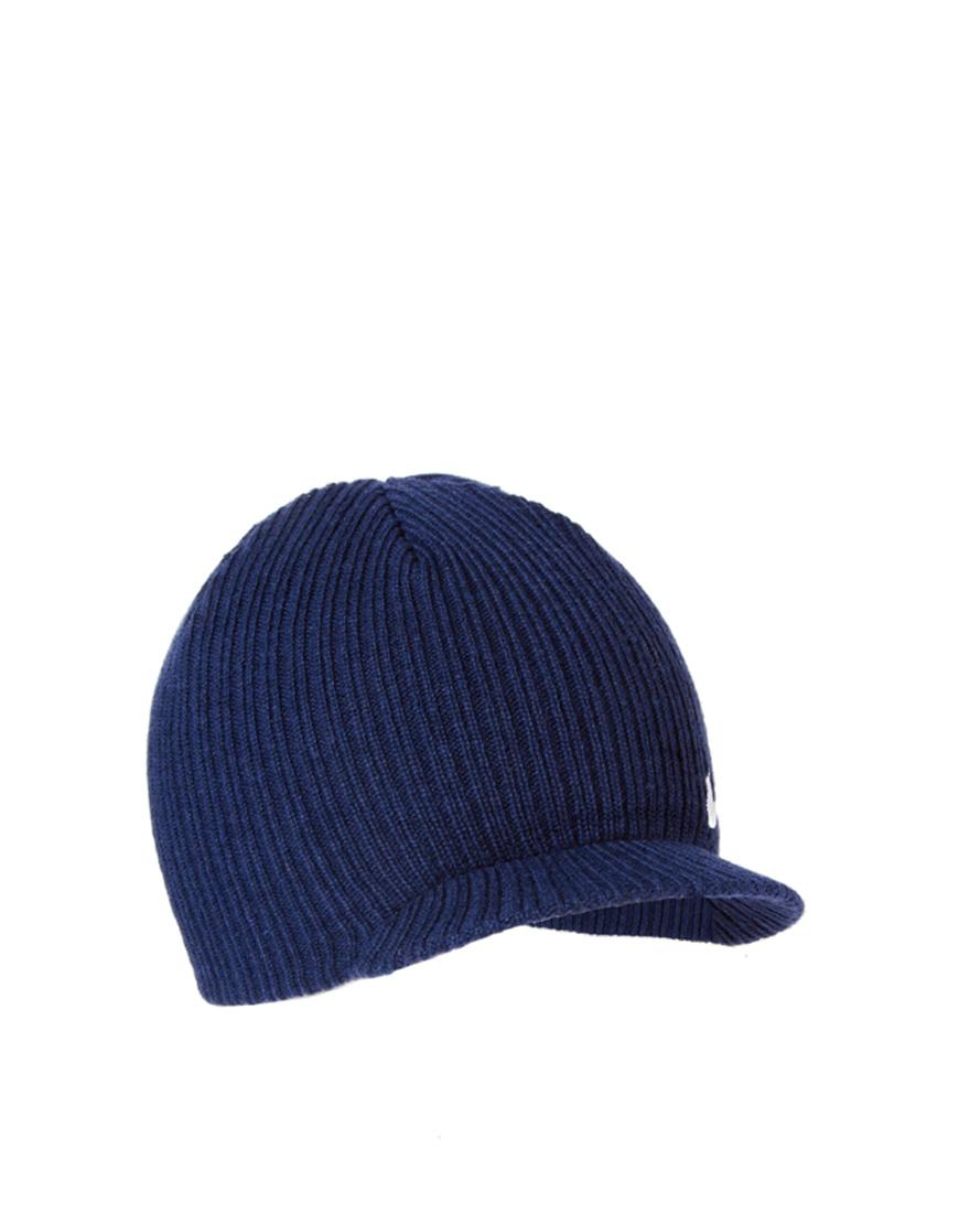 c02a58d04aa Lyst - Nike Regional Swoosh Peaked Beanie Hat in Blue for Men