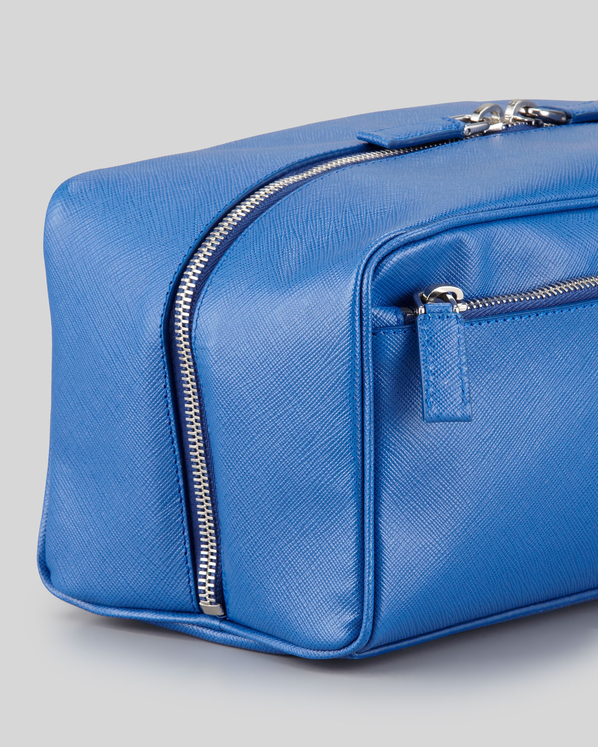 55d5c5076ae2 ... store lyst prada saffiano travel toiletry bag in blue for men 750b9  05e16