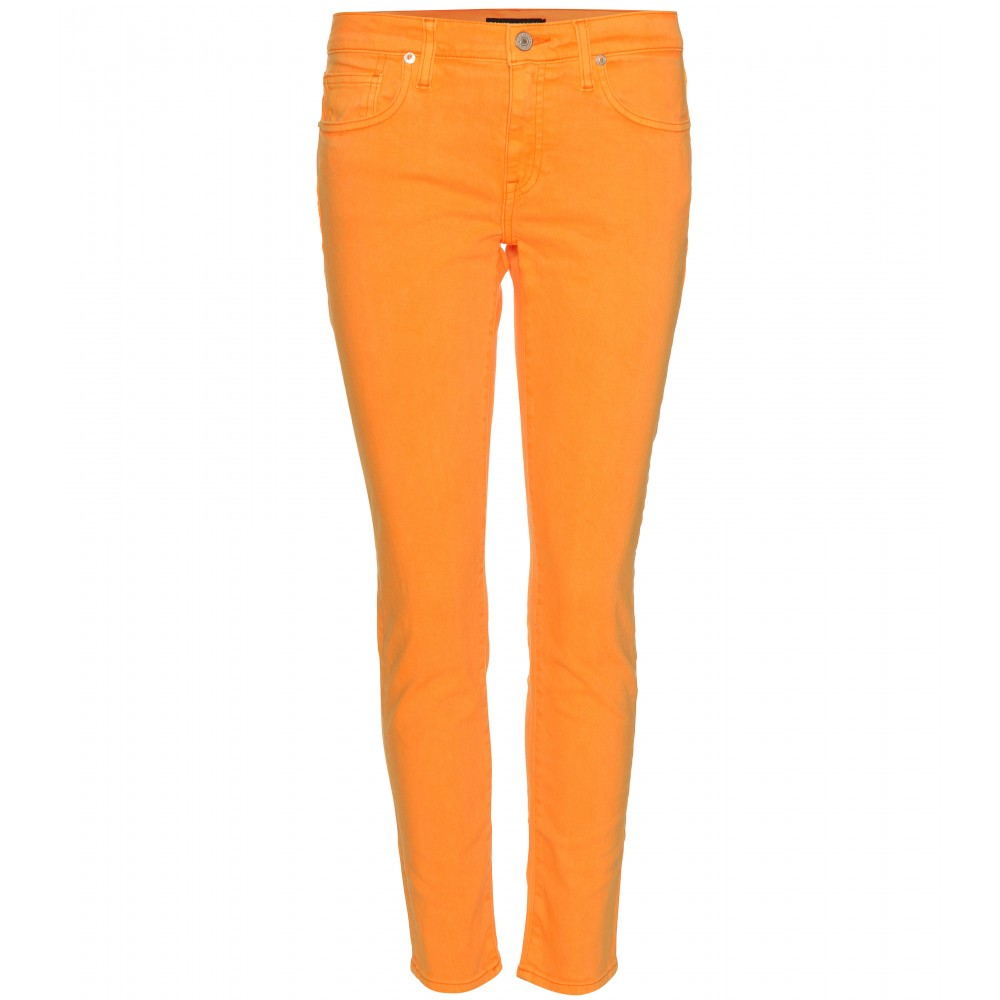 Ralph lauren Skinny Jeans in Orange | Lyst