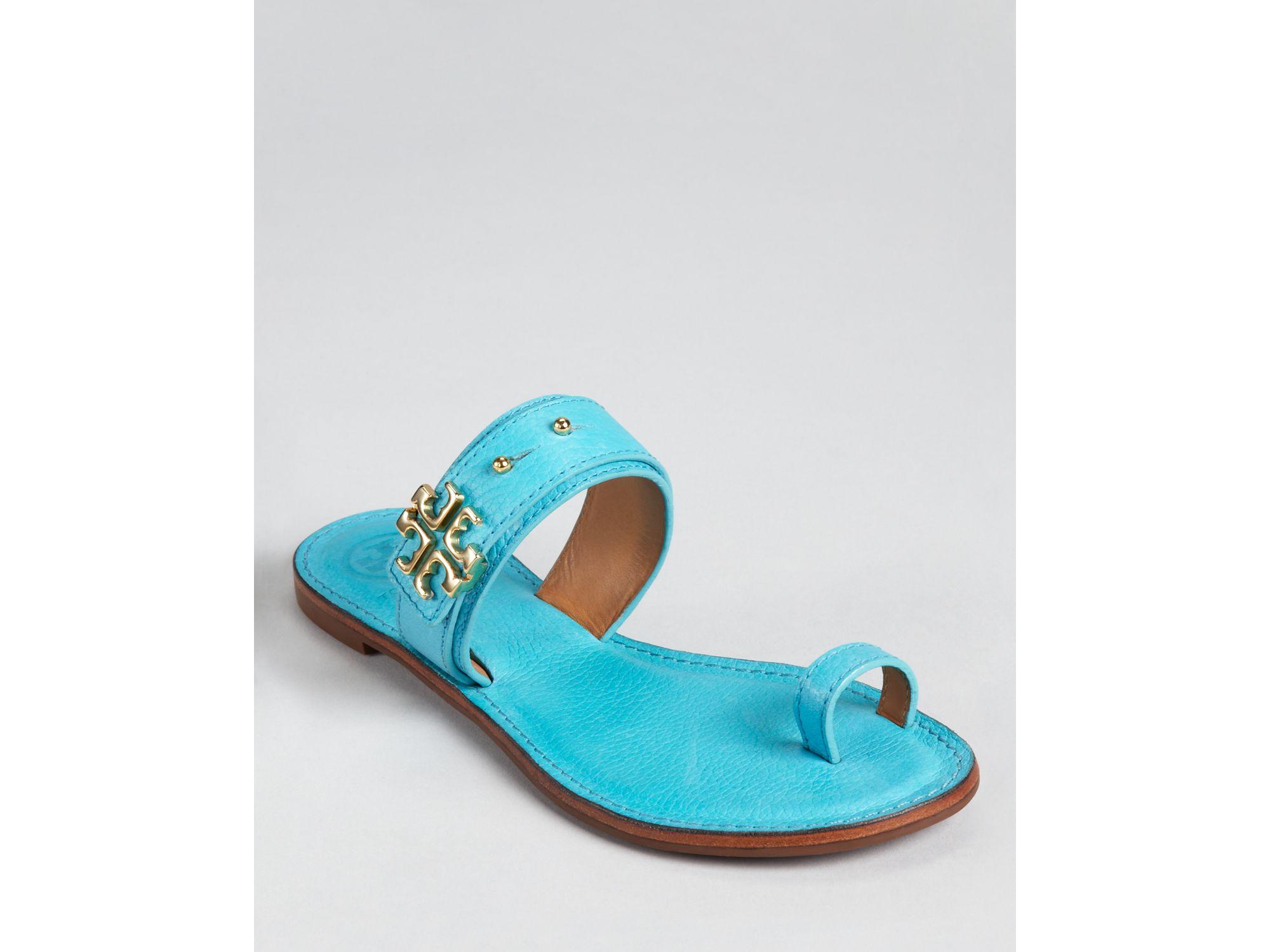 000c1f16ffce61 Lyst - Tory Burch Flat Sandals in Blue