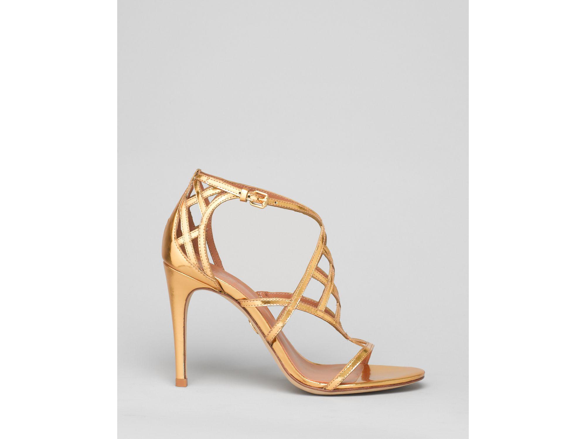 Tory Burch Evening Sandals Amalie High Heel In Gold Lyst