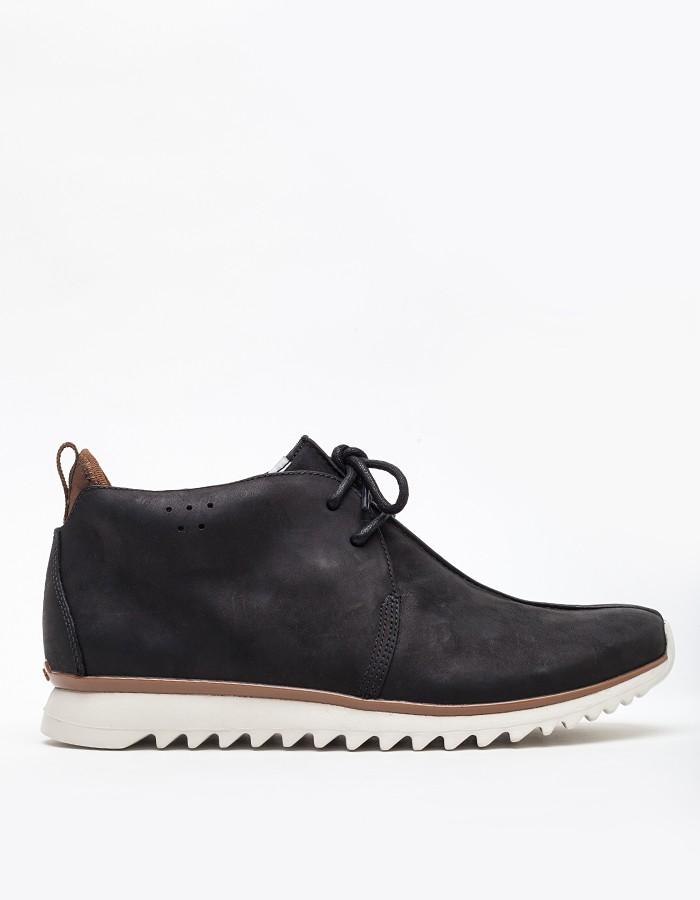Black Shoes Mid Top White Soles Men S