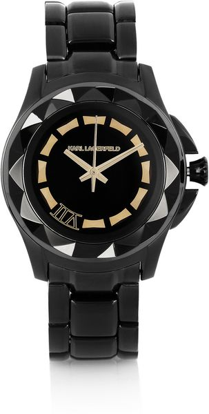 Karl Lagerfeld  Stainless Steel Watch in Black (steel) - Lyst