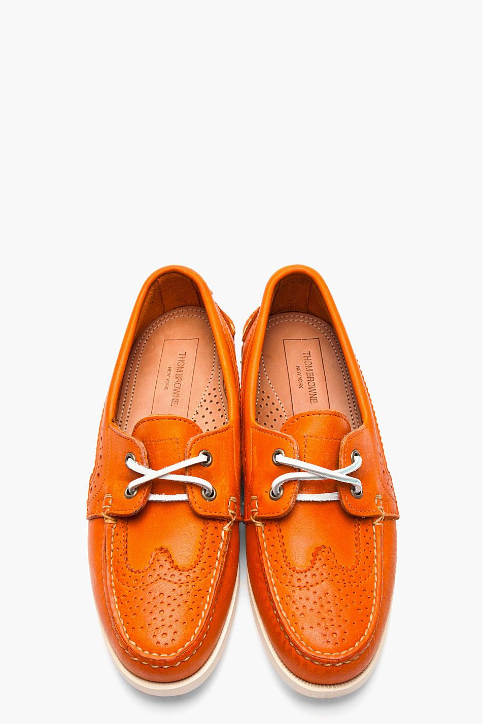 Perry Ellis White Orange Suede Shoes