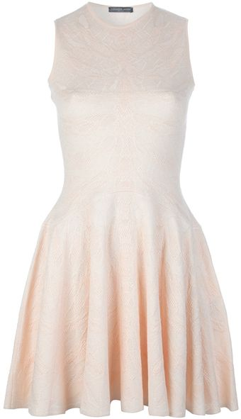Alexander McQueen Texture Sleeveless Dress - Lyst