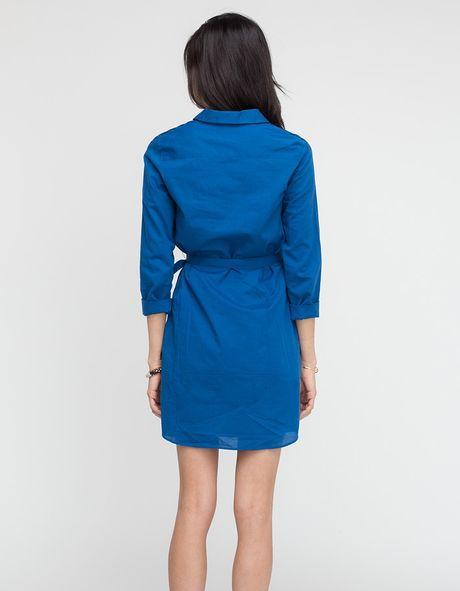 a p c robe chemise sport in blue lyst. Black Bedroom Furniture Sets. Home Design Ideas