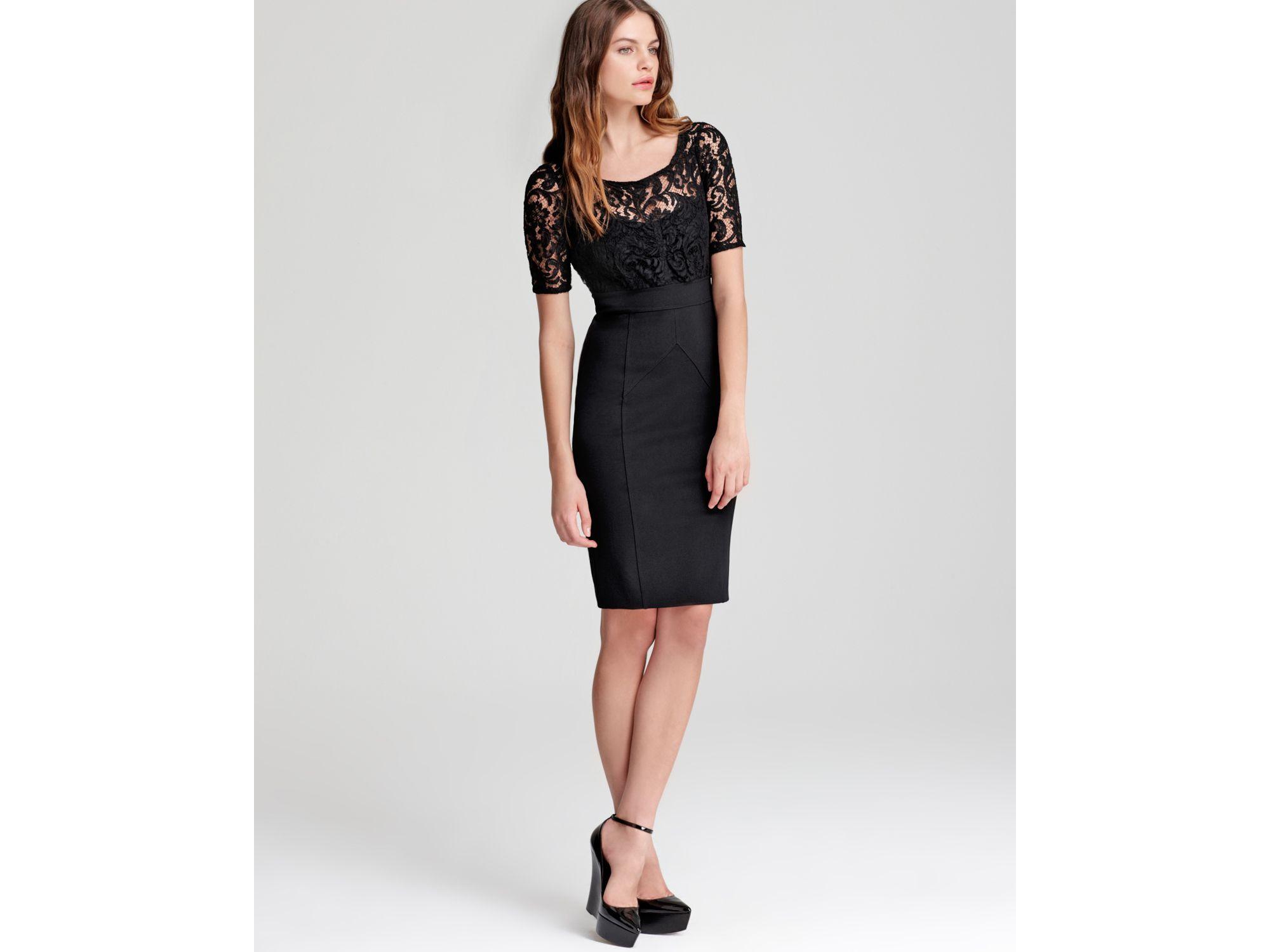 Short Black Lace Tops
