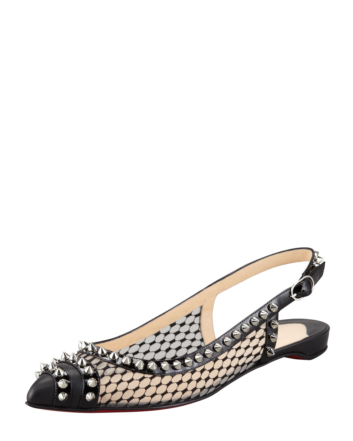 louboutin loafers - christian louboutin spiked mesh flats, fake louboutin shoes
