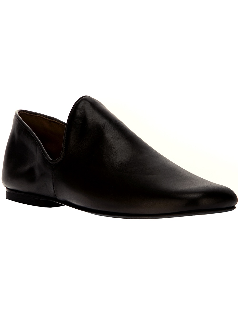 christophe lemaire minimalist loafer in black for lyst