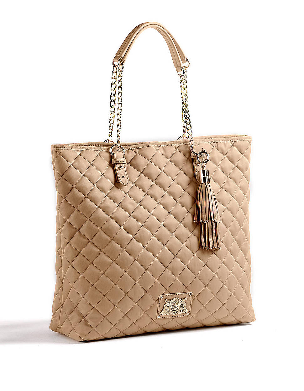 juicy couture quilted tote bag in pink rich camel lyst. Black Bedroom Furniture Sets. Home Design Ideas