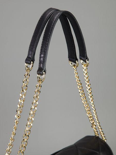Canada Michael Kors Blake Shoulder - Bags Michael Kors Quilted Chain Shoulder Bag Black