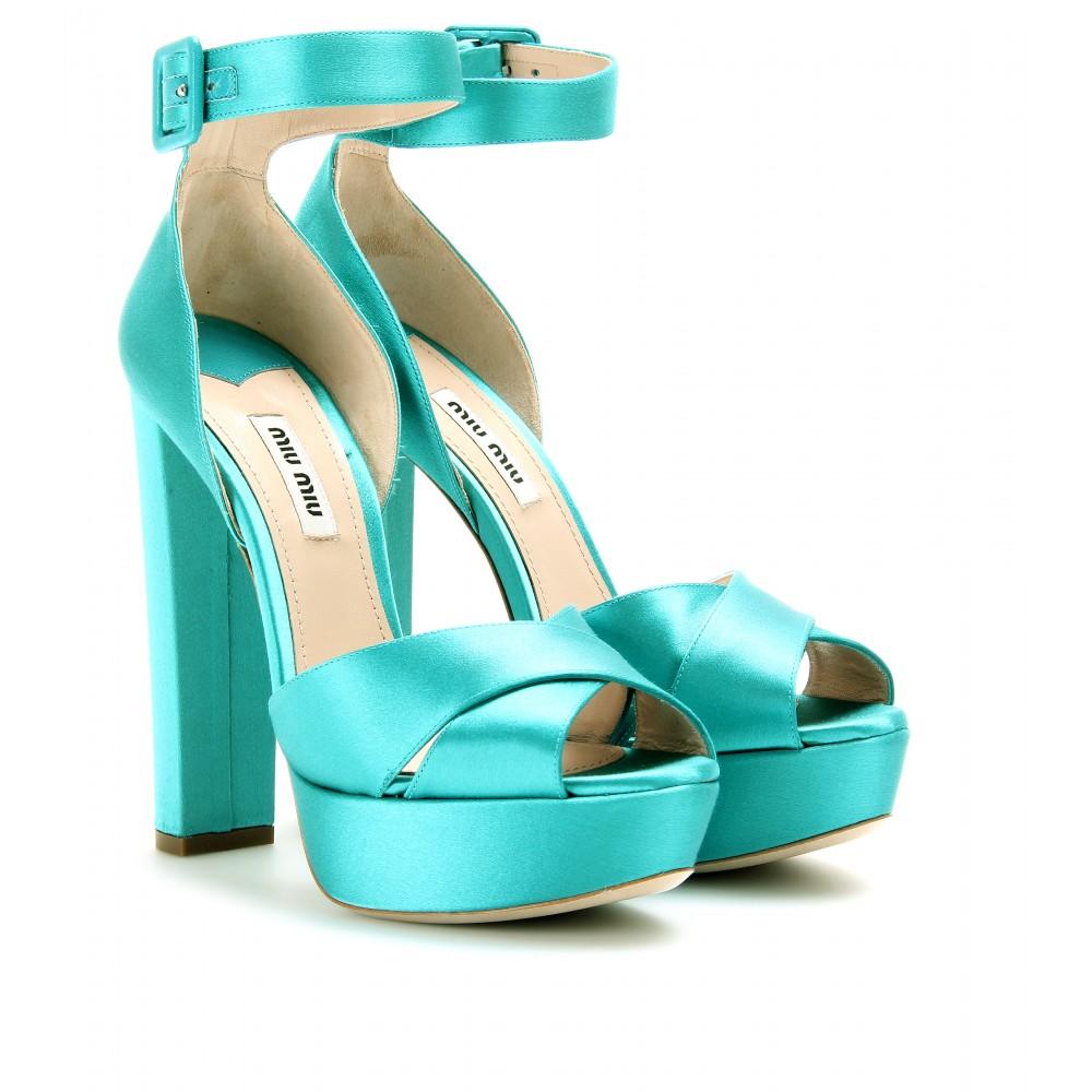 Satin plateau sandals Miu Miu q92ek1
