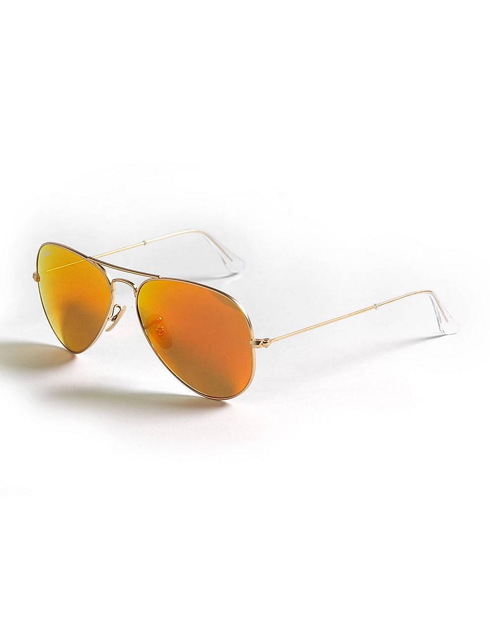 Ray-ban Aviator Sunglasses in Orange for Men (gold/orange