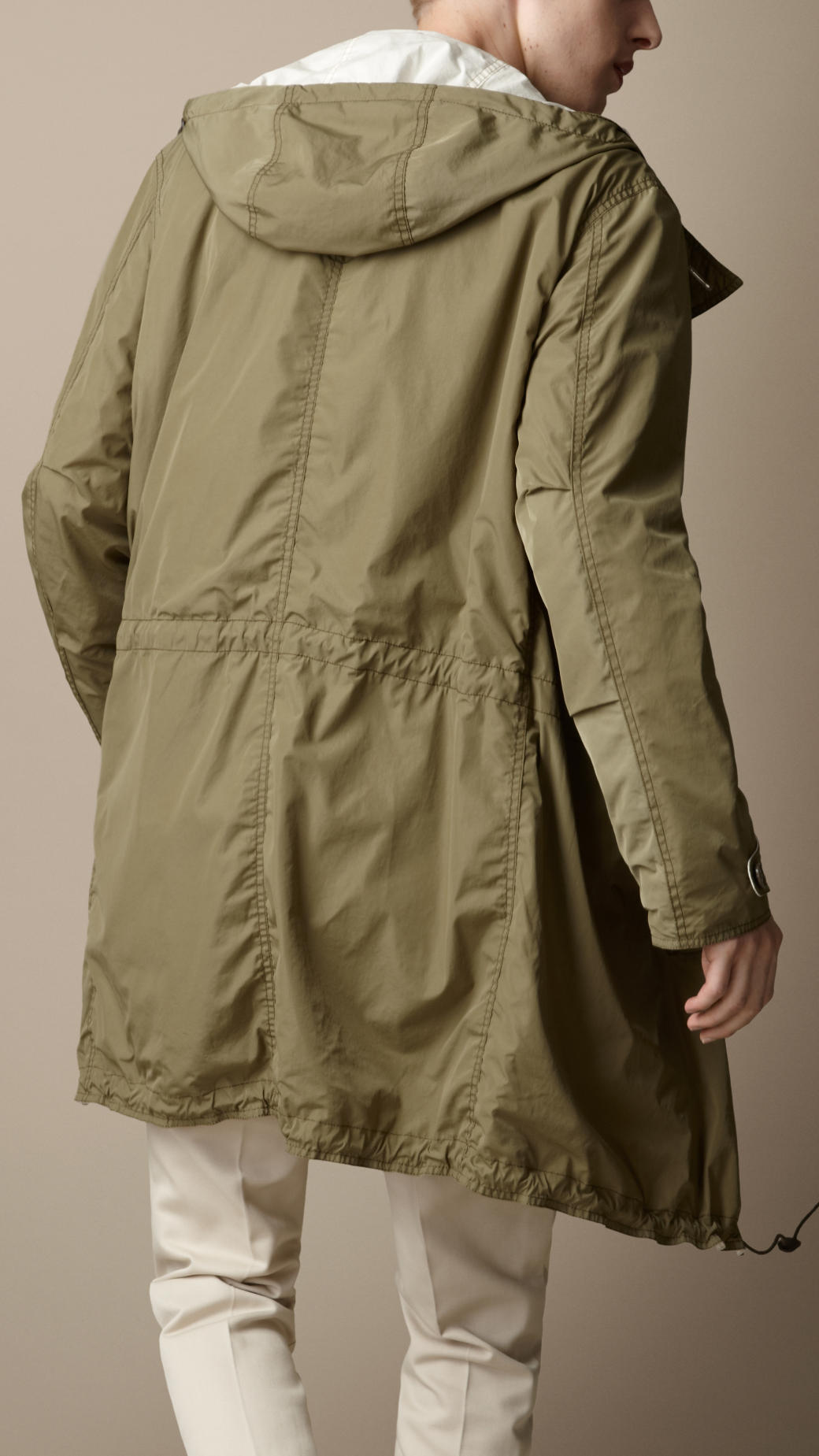 Lyst Burberry Brit Reversible Lightweight Parka In Green