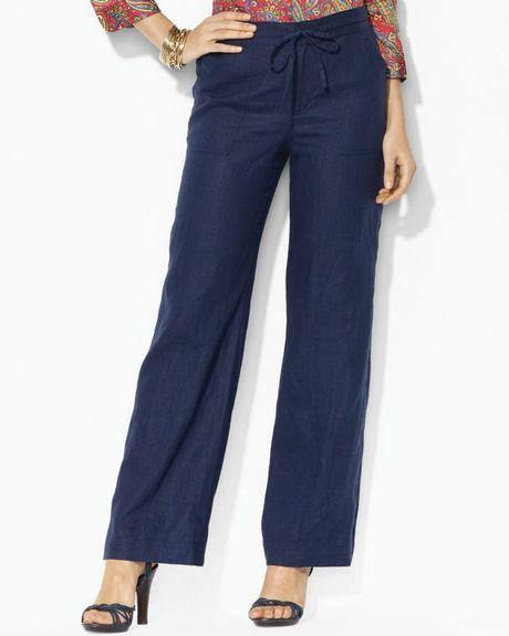 Popular Ralph Lauren Women Blue Label Noleta Pants Polo Black Original Sale