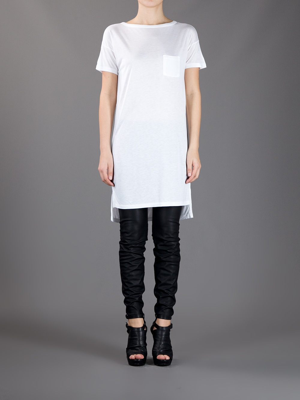 Lyst Alexander Wang T Shirt Dress In White