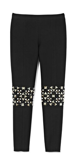 Suno Neoprene Leggings in Black (black neoprene)