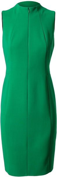 Akris Tailored Crepe Wool Pencil Dress - Lyst