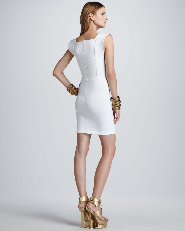 White Cotton Tube Dress