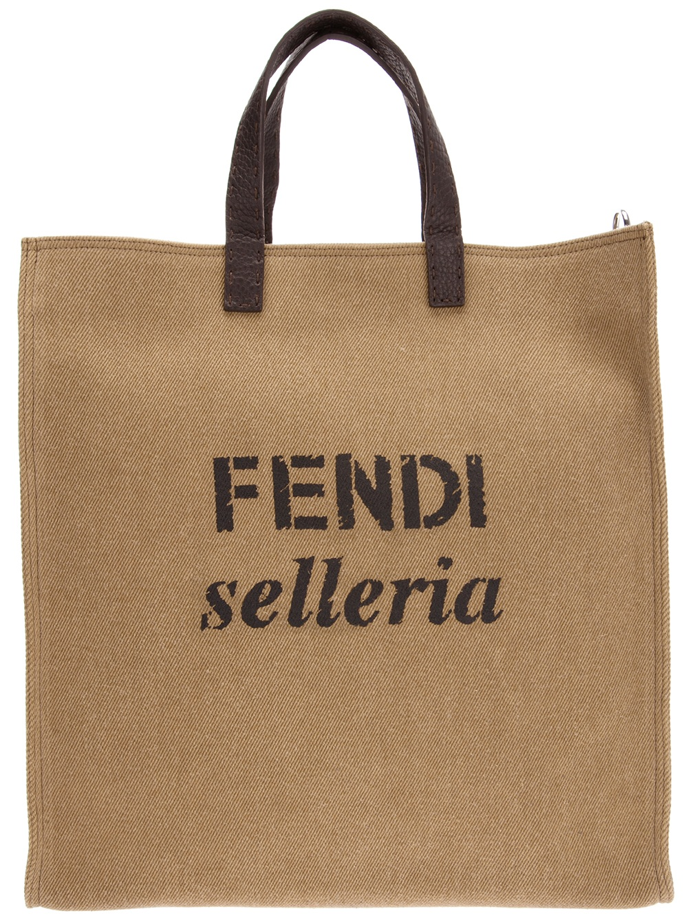 ... reduced fendi selleria shopping tote in brown for men lyst aa0f0 0e868 bcde0ae9034fa