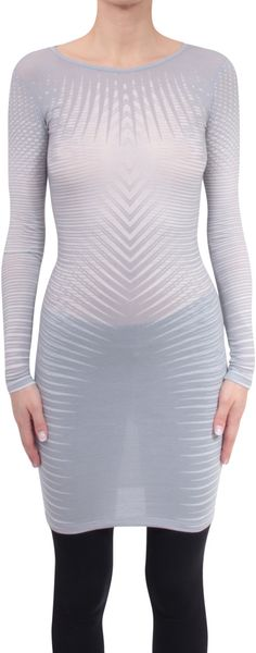 Gareth Pugh Viscose and Cashmere Dress - Lyst