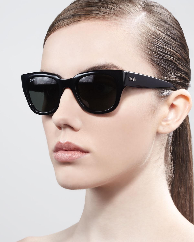 Lyst - Ray-Ban Cat-Eye Sunglasses in Black