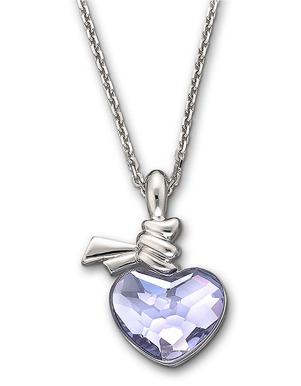 swarovski ties of love crystal heart pendant necklace in. Black Bedroom Furniture Sets. Home Design Ideas