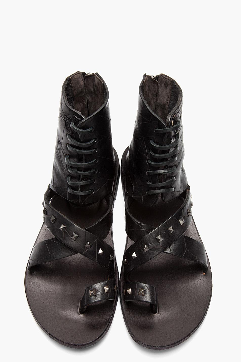Lyst Diesel Black Gold Black Studded Leather Anibal H