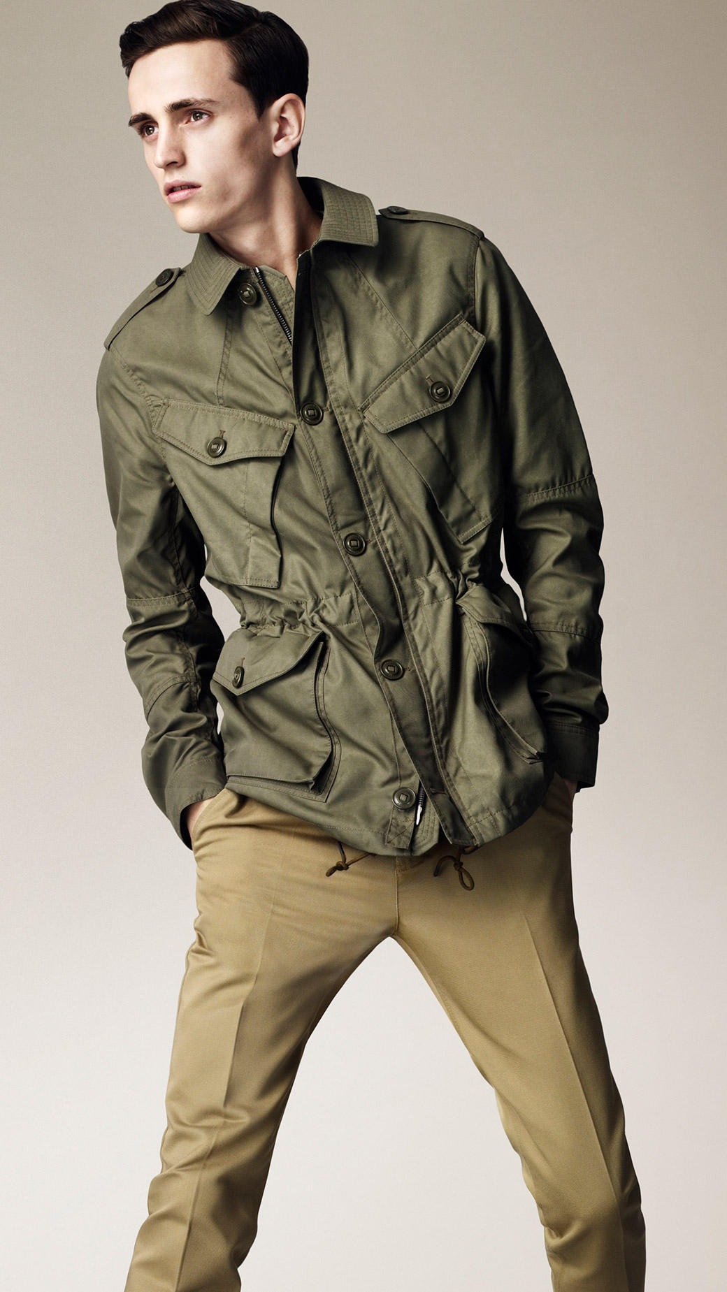 Lyst Burberry Brit Heritage Military Field Jacket In