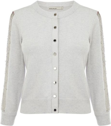 Zara Silver Sequin Cardigan 24