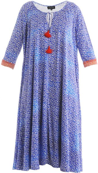 Saloni Iris Vibrant Dots Print Dress - Lyst