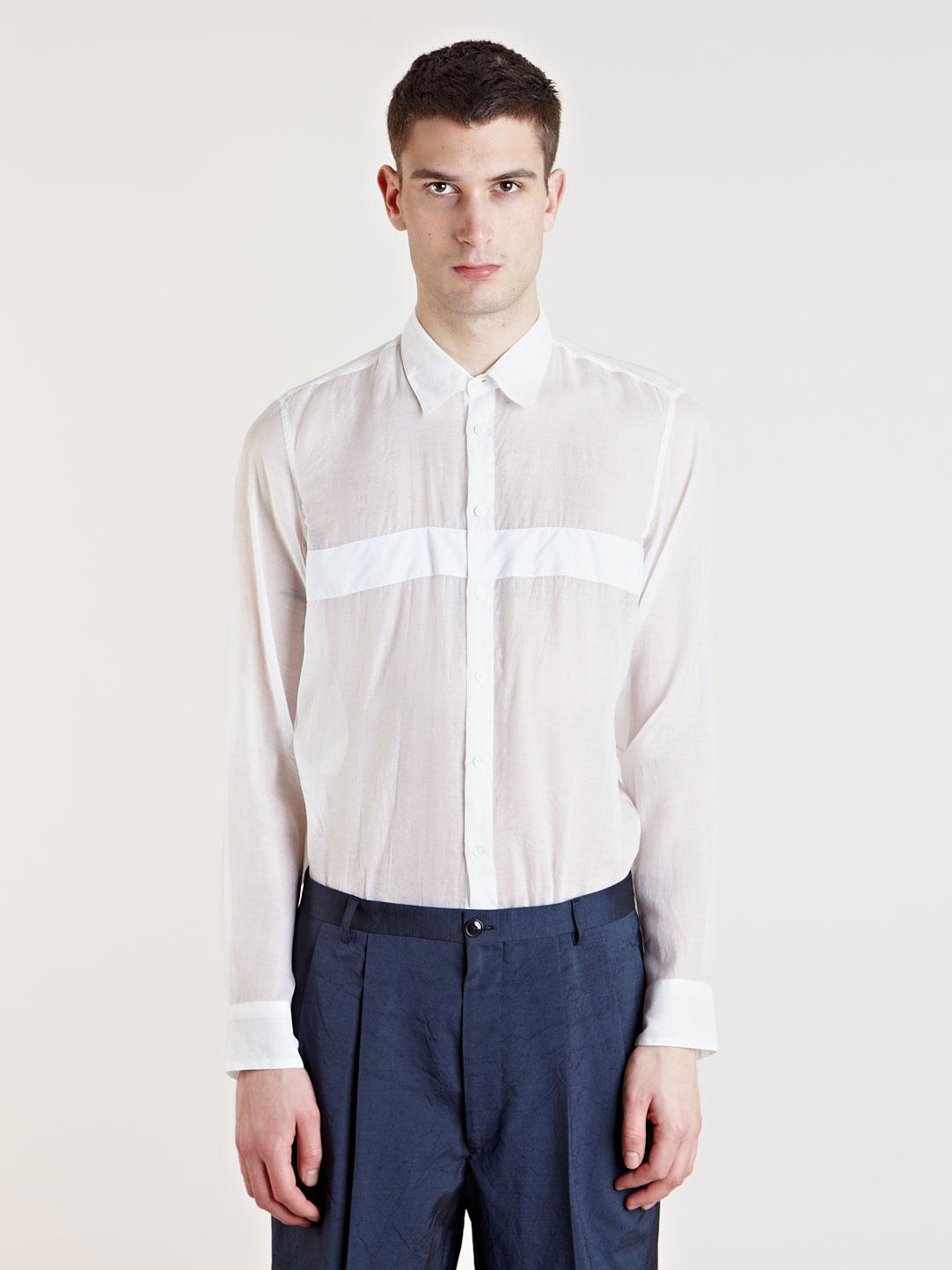 lyst dries van noten campino shirt in white for men