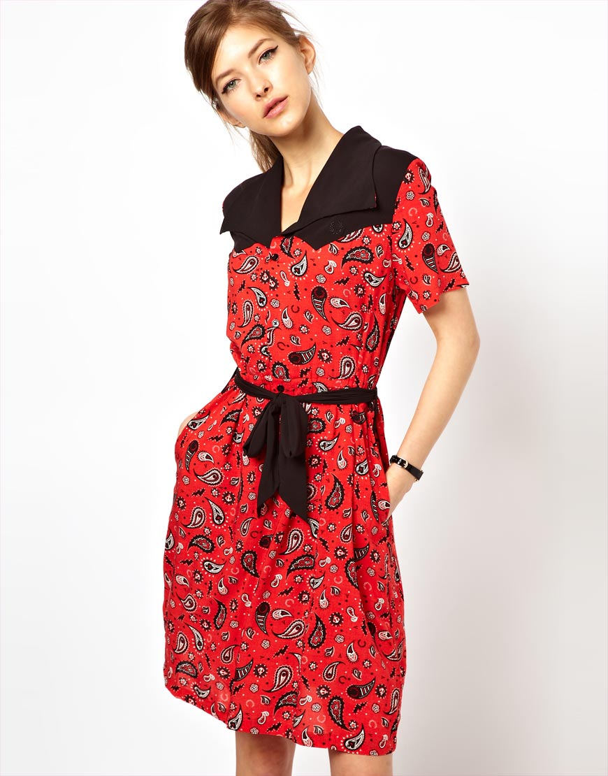 Bandana Print Shirt Dress images