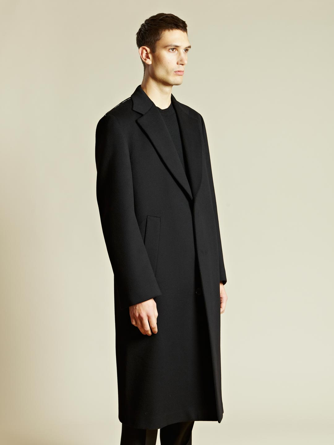jil sander volta coat in black for men lyst. Black Bedroom Furniture Sets. Home Design Ideas