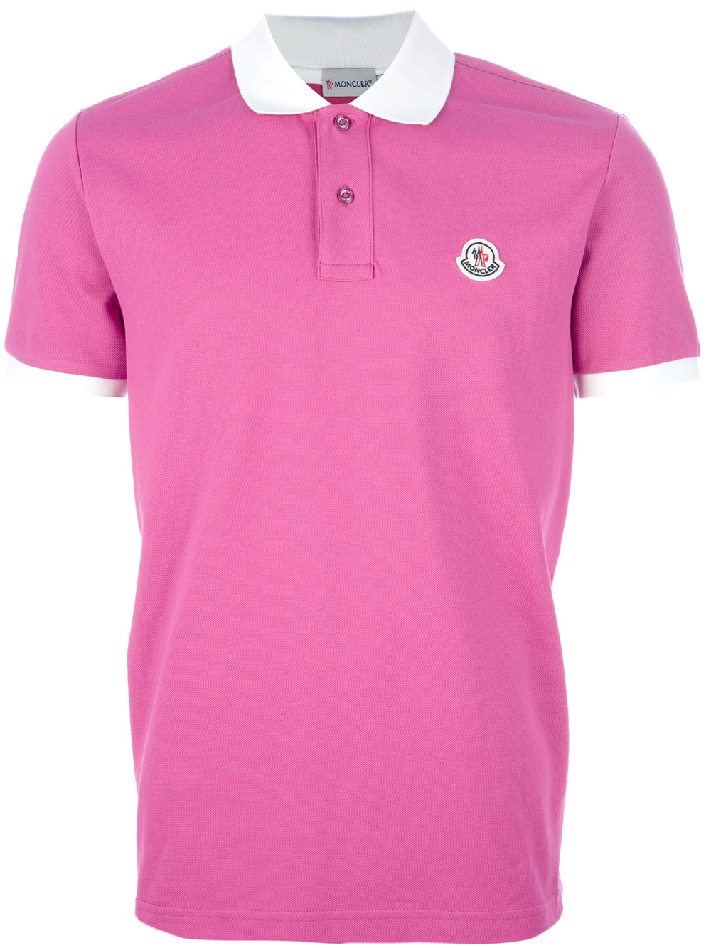 purple moncler polo