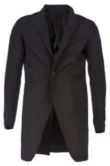Rick Owens Mid Length Single Button Blazer - Lyst