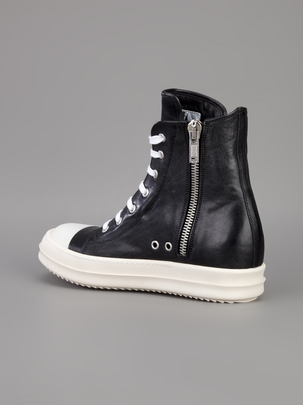 Rick OwensLeather High Trainers vLJ3HszvtL