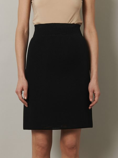 theyskens theory mesh pencil skirt in black lyst